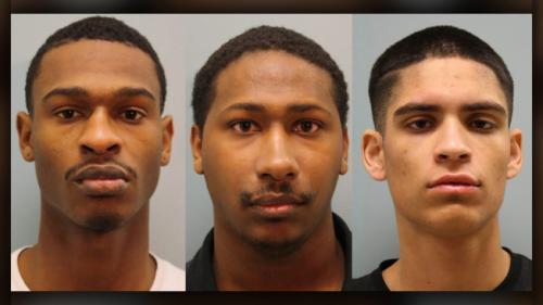 涉及美得州蓝姓夫妇命案的三名嫌犯已被捕。(得州哈里斯县警方提供)