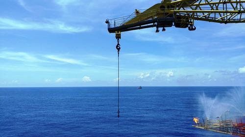 资料图片:这是2017年7月9日拍摄的南海天然气水合物试采工程现场。新华社发