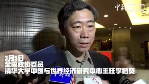 视频截图 李稻葵再接受媒体采访