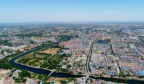 资料图片:图为雄安新区雄县县城(2017年4月26日摄)。 新华社记者 杨世尧 摄