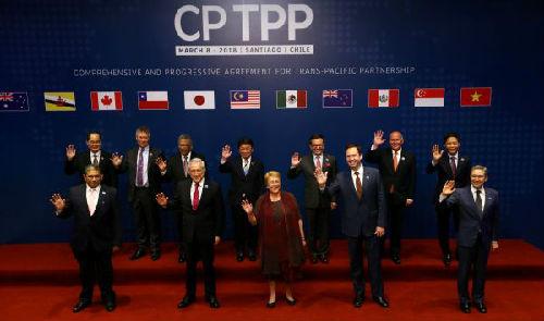英媒:11国签署新版TPP 对抗美国贸易保护主义