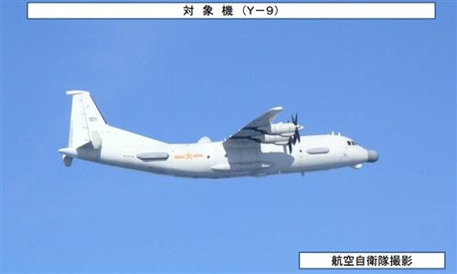 日本航空自卫队拍摄的中国军机