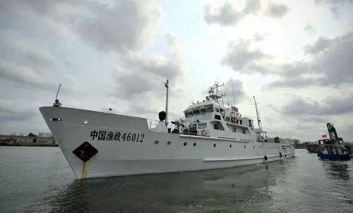 ▲资料图片:中国渔政船赴西沙及黄岩岛海域巡航护渔。(新华社)