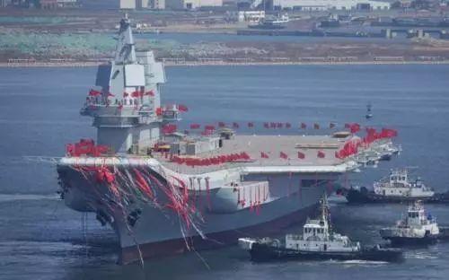 ▲我国首艘国产航母001A型