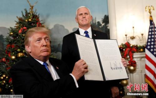 当地时间12月6日,美国总统特朗普在华盛顿发表声明,美国政府承认耶路撒冷为以色列首都,并将把美国驻特拉维夫大使馆搬迁至耶路撒冷。