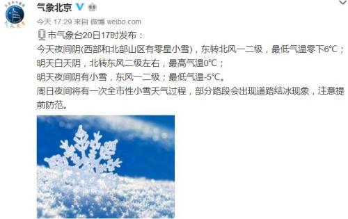图片来源:气象北京微博