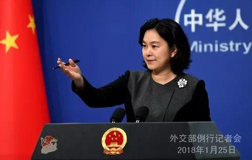 ▲1月25日,外交部发言人华春莹宣布相关消息。