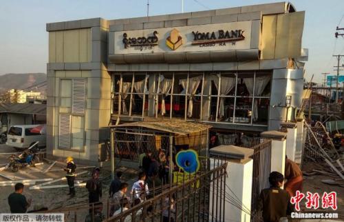 当地时间21日,缅甸北部一家银行发生爆炸,造成2人死亡,22人受伤。