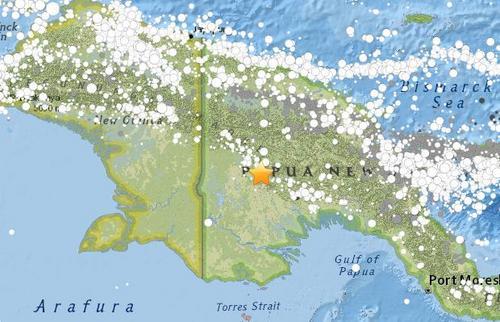 巴布亚新几内亚发生6.7级地震 已致至少18人丧生