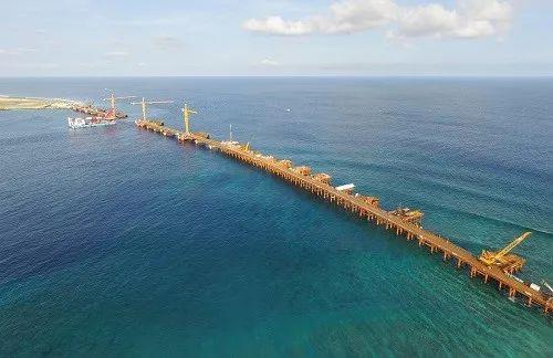 ▲建设中的马尔代夫中马友谊大桥