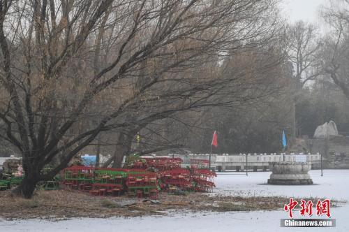 资料图:2017年1月5日,北京迎来2017年首场降雪。 中新社记者 崔楠 摄