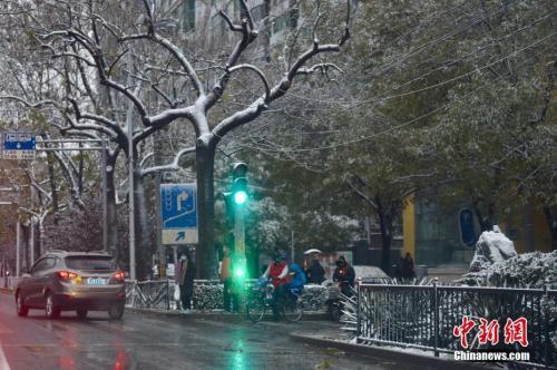资料图:2016年11月21日,北京迎入冬首场降雪。中新网记者 金硕 摄