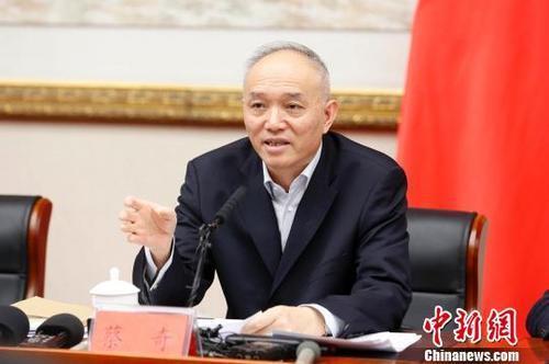 北京市委书记蔡奇。资料图。韩海丹 摄