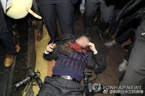 """韩国媒体炒作""""记者在中国采访遭殴打""""一事。来源:韩联社"""