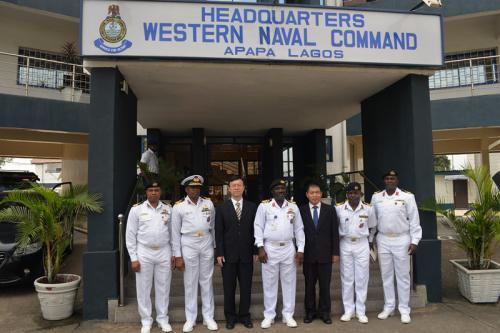 会见合影。来源:中国驻尼日利亚拉各斯总领馆网站。