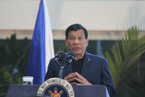 资料图片:菲律宾总统杜特尔特。新华社记者 王羽 摄