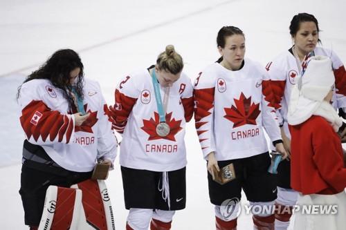 加拿大女子冰球队(图片来源:韩联社)