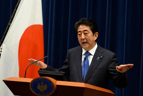 资料图片:日本首相安倍晋三。新华社记者 马平 摄