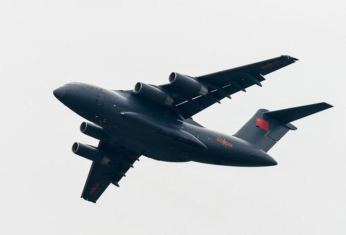 资料图片:运-20大型运输机在飞行(2016年11月1日摄)。新华社记者 刘大伟 摄
