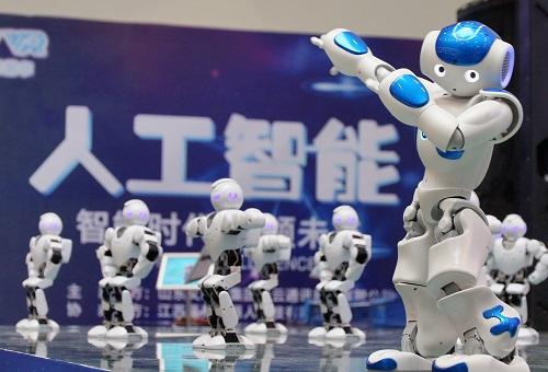 资料图:机器人表演。