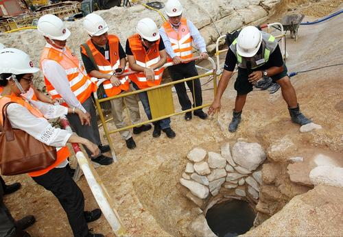 沙中线施工发现宋元古迹。图片来源:香港《大公报》