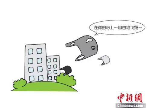 漫画:大风起兮塑料袋飞扬。制图:加菲鱼