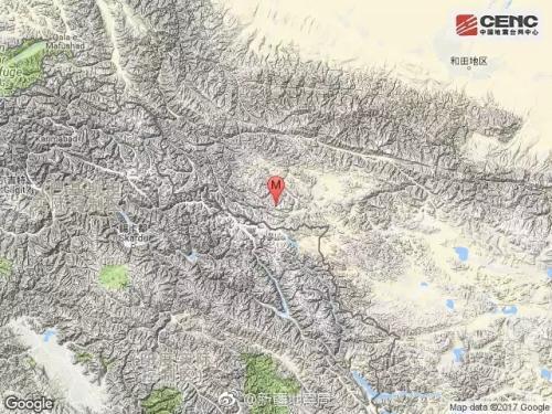 新疆地震局官方微博截图