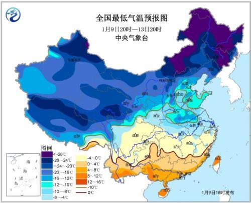 寒潮黄色预警发布 东北内蒙古局地降温10℃以上