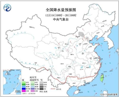 天下降水量预告图(19日08时-20日08时)图片起源:中心景象台网站