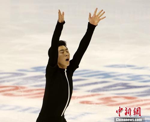 资料图:华裔选手陈巍(Nathan Chen)。中新社记者 刘丹 摄