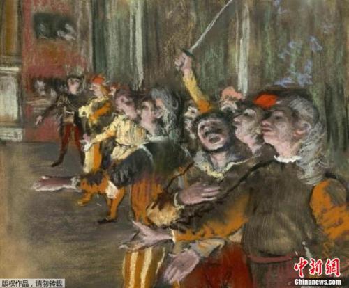 """法国大师德加的油画""""Les Choristes""""。"""