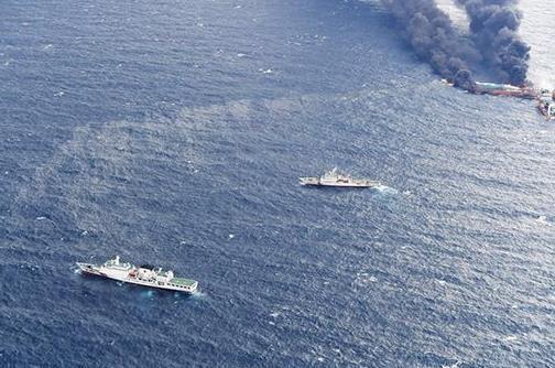 桑吉轮沉没海域溢油面积扩大:总面积约百平方公里