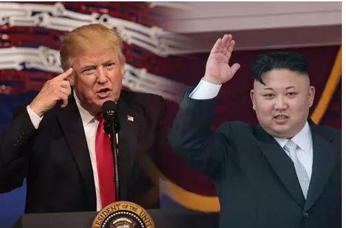 美国总统特朗普和朝鲜最高领导人金正恩。