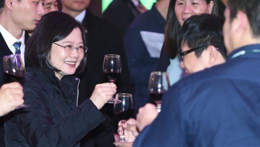 蔡英文出席民进党年会。(图片来源:台媒)