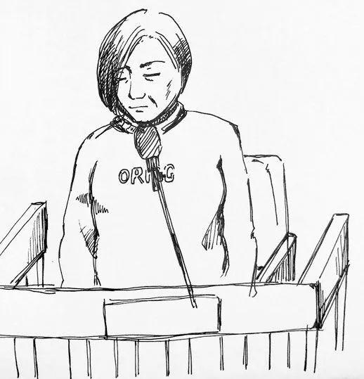 被告人莫焕晶 现场手绘图