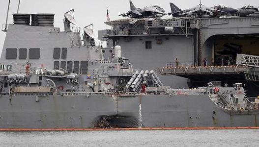 秋后算账? 美撞船指挥官或被控过失杀人