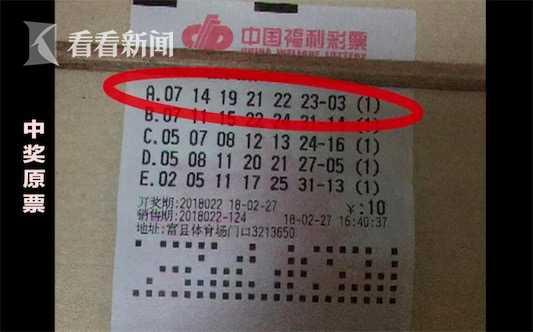澳门电子游艺城:天上掉大馅饼_老板打错票彩民买走竟中820万