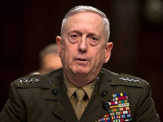 资料图片:美国国防部长马蒂斯。(图片来源于网络)