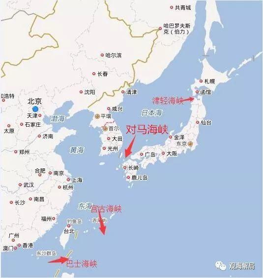 (4海峡表示图)