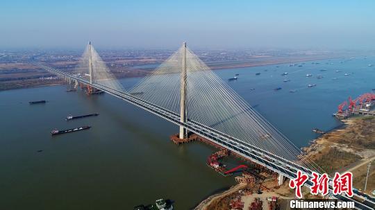 安徽芜湖长江二桥通车运营 获全球基础设施建设创新大奖
