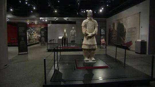 中国兵马俑在美国展出 手指被游客折断并偷走