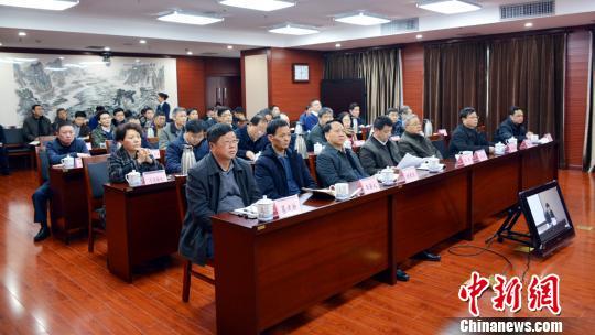 2月21日下午,江西省交通运输厅召开全省交通运输安全生产视频会议。 练崇田 摄
