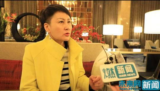 全国政协委员、影视演员张凯丽 未来网阎康宁摄