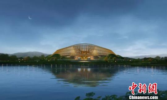 2019年北京世园会中国馆修建方案7日晚公布。中国馆将坐落于长城脚下,环山抱水,突出中国特色,将接纳一系列节能降耗措施,打造一个绿色修建。 曾鼐 摄
