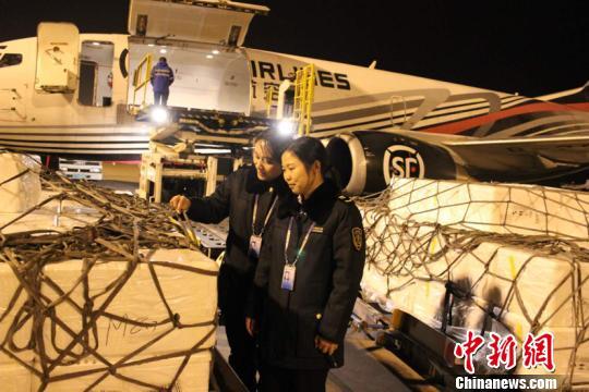 图为广西出入境检验检疫局工作人员对入境货品进行查验。