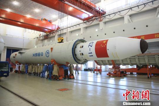 """1月19日,长征十一号固体运载火箭""""一箭六星""""发射任务圆满成功。这是长征十一号火箭首次""""全商业发射""""。中国运载火箭技术研究院供图"""