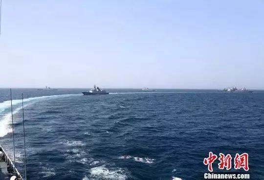 ▲资料图片:中国海军护航编队执行环球访问任务。