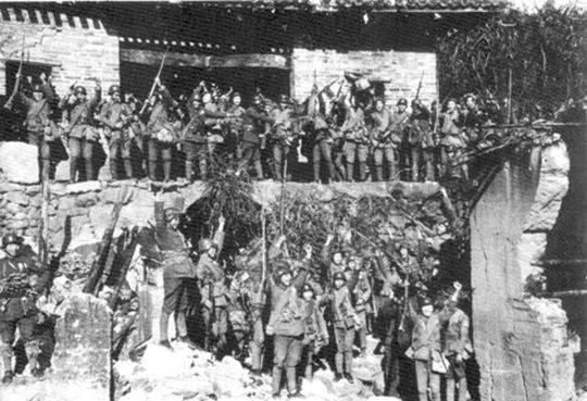 中国军队收复昆仑关。(资料图)