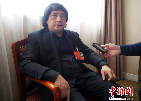 全国人大代表、景德镇陶瓷大学校长宁钢4日在北京接受记者采访。 刘占昆 摄