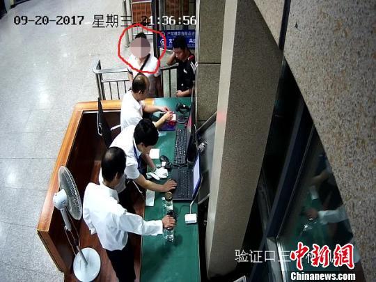 王某进站画面 警方供图